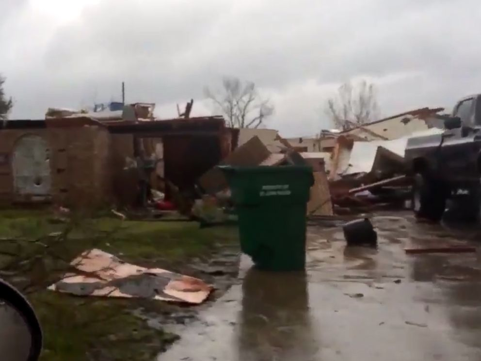 PHOTO: Dangerous winds in LaPlace, La. ripped through several homes, completely destroying them.