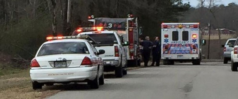 PHOTO:Darlington County Sheriffs Office released this photo of emergency vehicles responding to a man being struck by a falling tree in Darlington, S.C., Feb. 24, 2016.