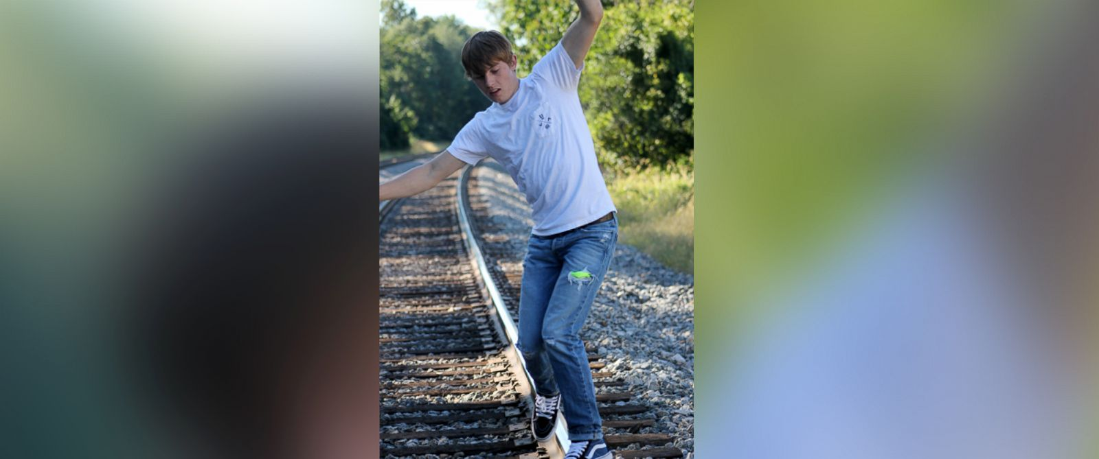 PHOTO: John DeReggi, 16, was struck and killed by an Amtrak train moments after this photo was taken on Sept. 14, 2015.