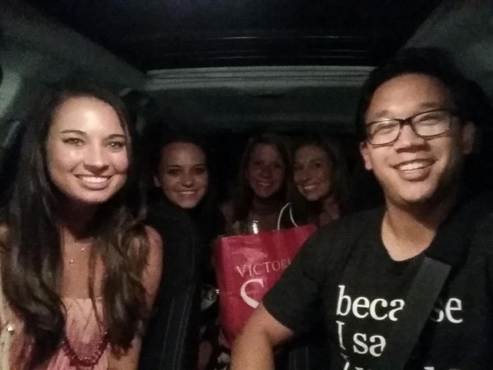 PHOTO: Sheens first passengers were women returning home from a bachelorette party.