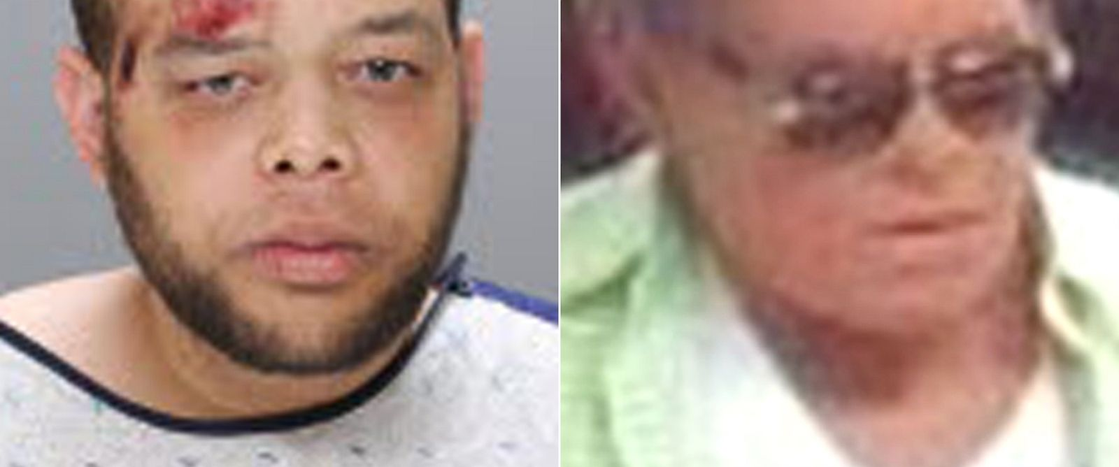 PHOTO: Dion Jordan, left, is in police custody in connection to a series of bank robberies committed by someone wearing a mask depicting an elderly man, right.