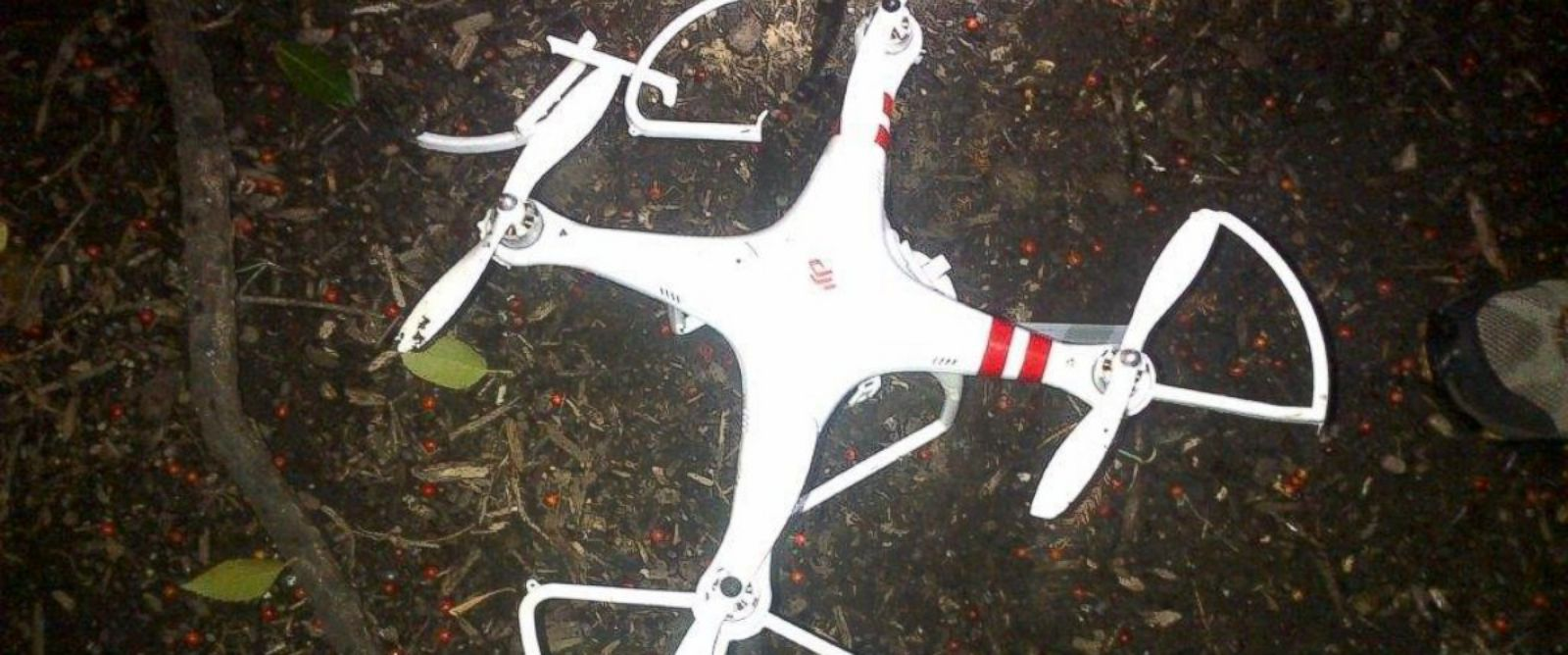 PHOTO: A small drone was found on the White House lawn last night.