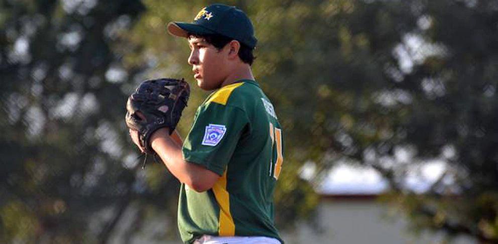 PHOTO: Twelver-year-old pitcher Emmett Parsutt Jr.