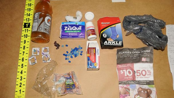 PHOTO: This sports drink bottle and these sleeping aids were found in Pedro Bravos car.