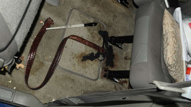 PHOTO: This belt, pictured in this evidence photo, was found inside Pedro Bravos car.