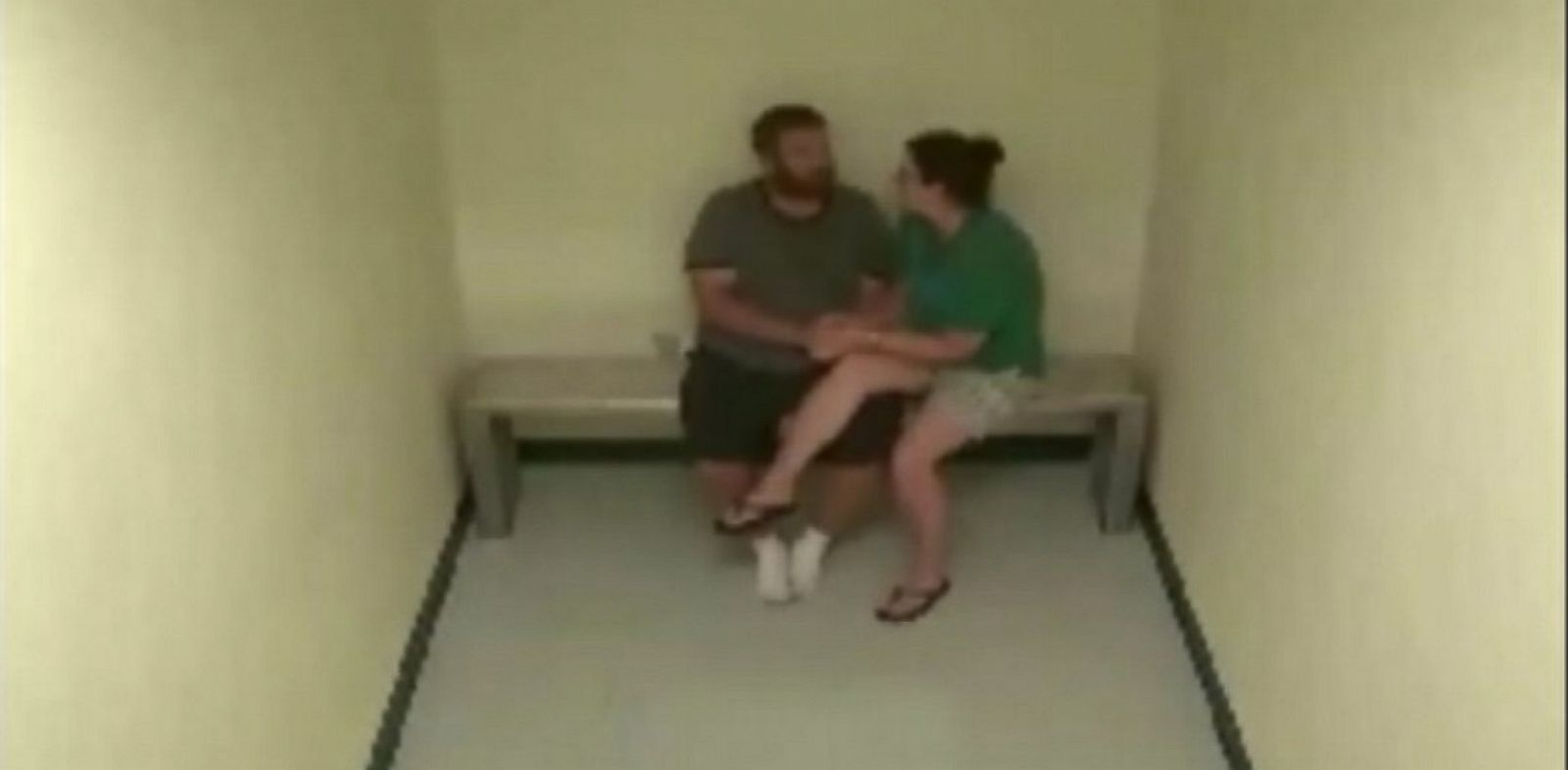 PHOTO: Joshua and Sharyn Hakken,seen in a prison surveillance video.