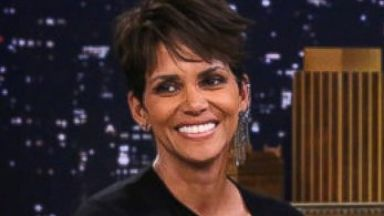 "PHOTO: Halle Berry during an interview with Jimmy Fallon, July 8, 2014, on ""The Tonight Show Starring Jimmy Fallon."""