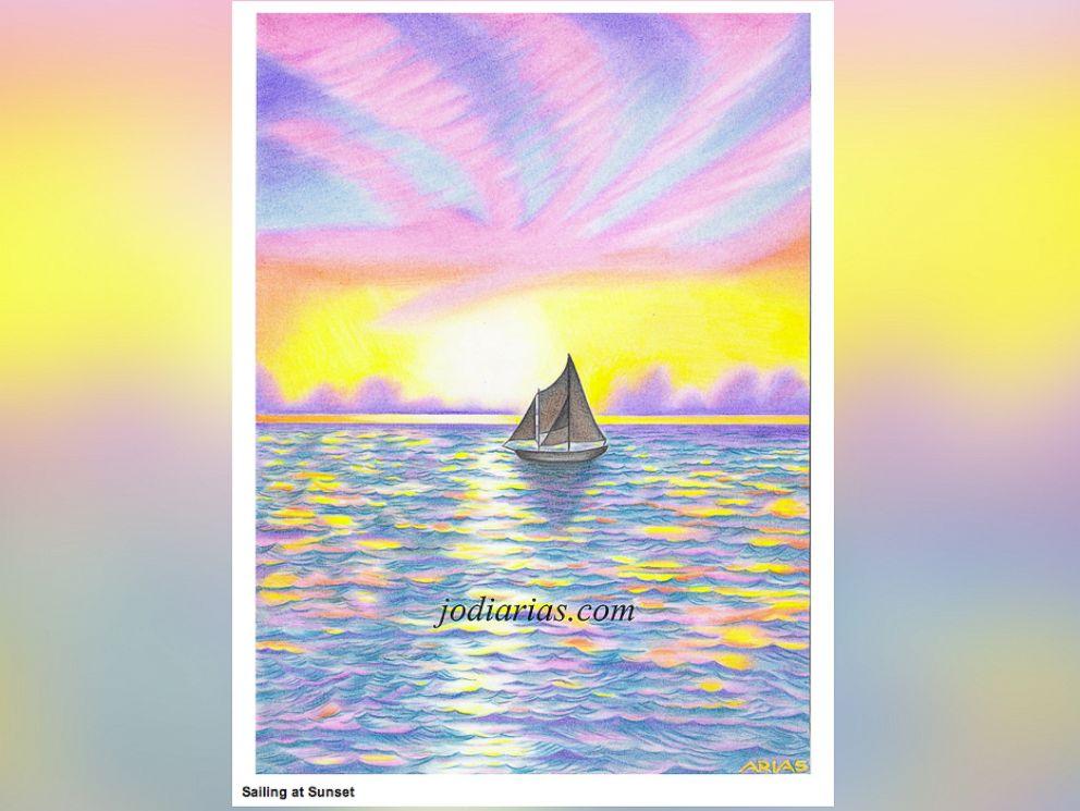 PHOTO: Jodi Arias shows her artwork on her website jodiarias.com.