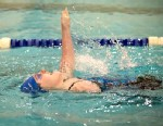 PHOTO: Kayla Wheeler competes in a recent swimming competition.