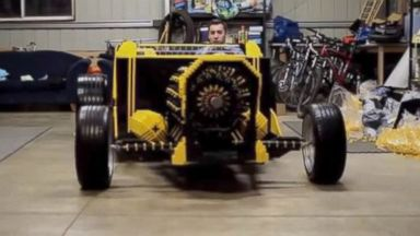 PHOTO: Two engineers have built a life-sized car made of Lego that runs on air in a video posted to YouTube.