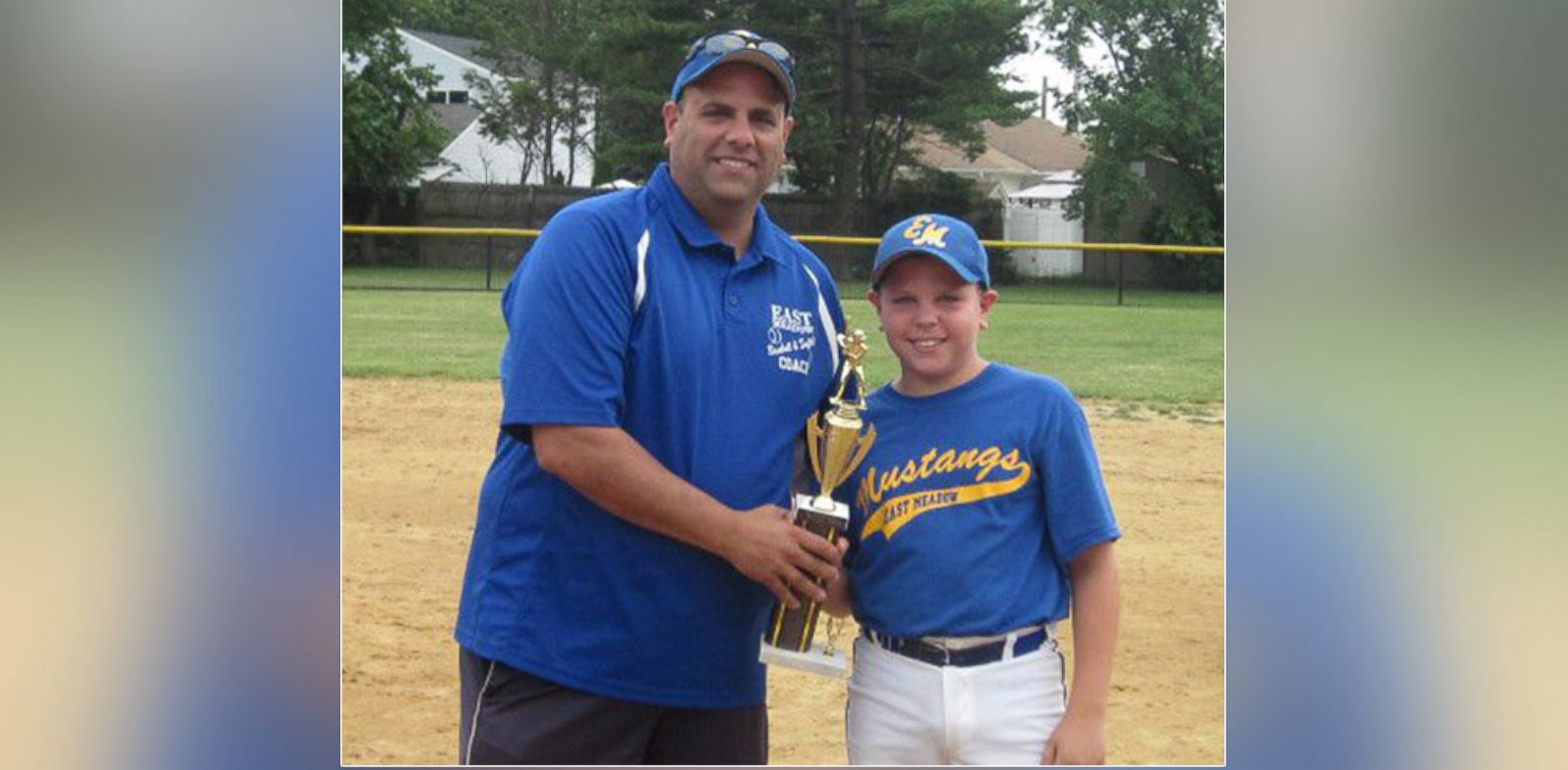 PHOTO: Little League coach John DeMasi, left, and his son Dominic DeMasi, right, received threatening letters from a parent after her son failed to make the travel team.