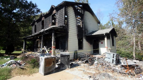 PHOTO: Lucy Johnsons home was on fire as the result of arson in 2008.