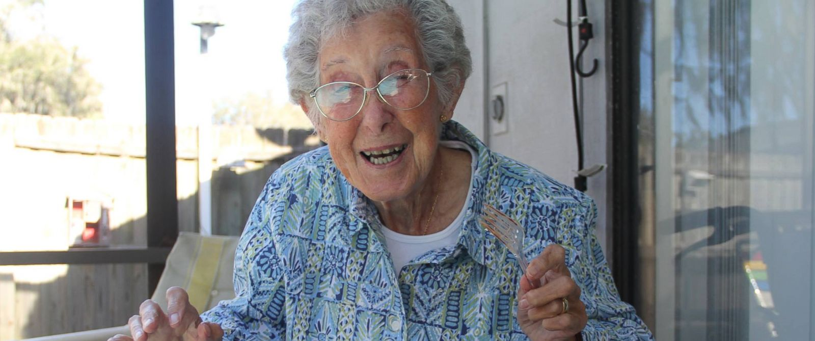 """PHOTO: Norma, who is nearly 90-years-old, is seen here in a picture posted to her Facebook page titled, """"Driving Miss Norma."""""""