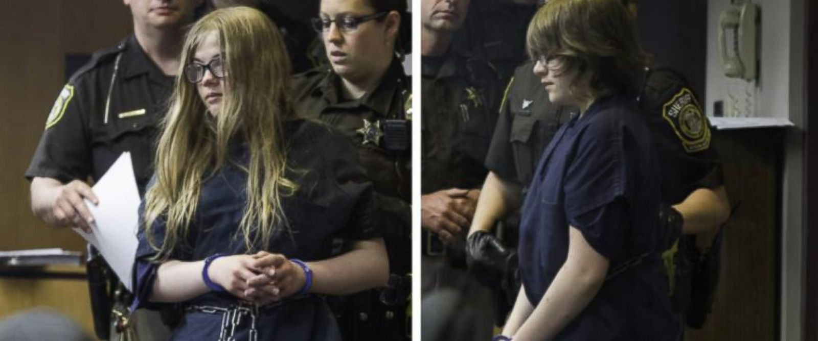 PHOTO: Morgan Geyser and Anissa Weier allegedly stabbed another 12-year-old girl and have been charged with attempted murder.
