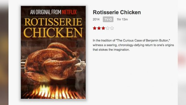 "PHOTO: The Netflix original series ""Rotisserie Chicken"" is seen on Netflix."