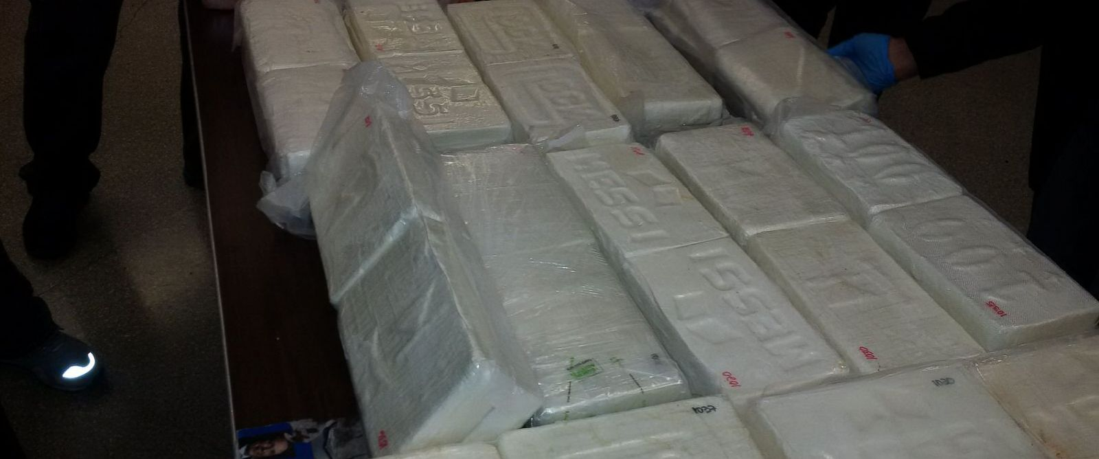 PHOTO: New York City police seized 136 pounds of cocaine worth up to $3 million and arrested two suspected narcotics traffickers, officials said, Dec. 19, 2015.