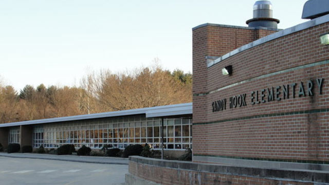 PHOTO: The outside of Sandy Hook Elementary School, where a shooting took place on December 14, 2012.