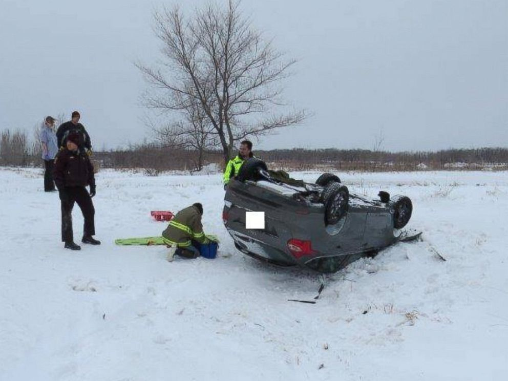 PHOTO: The Minnesota State Patrol posted photos from a Feb. 14 rollover crash in Pennington County.