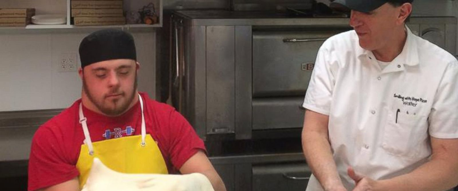 PHOTO: Walter Gloshinski trains employees with developmental disabilities at Smiling With Hope Pizza in Reno, Nevada.