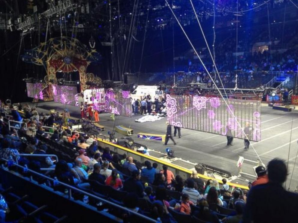 PHOTO: Sydney Bragg tweeted this photo on May 4,2014, There was an accident at the circus during an act and snapped the performers necks. Im like [shaking] and frightened.