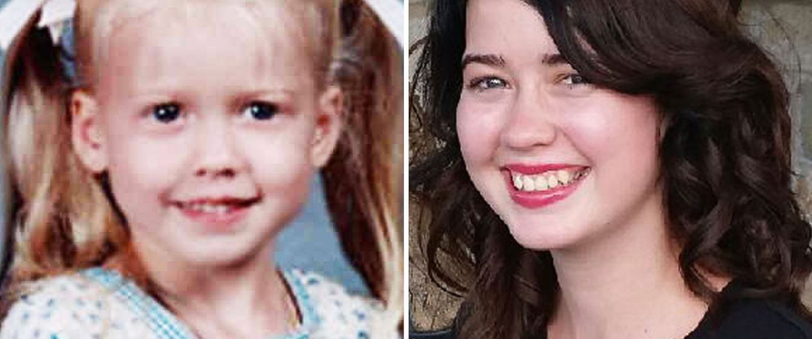 PHOTO: Left, Sabrina Allen, 4, is shown in this photo provided by the National Center for Missing and Exploited Children; right, Sabrina Allen, 17, is seen in this undated handout photo.