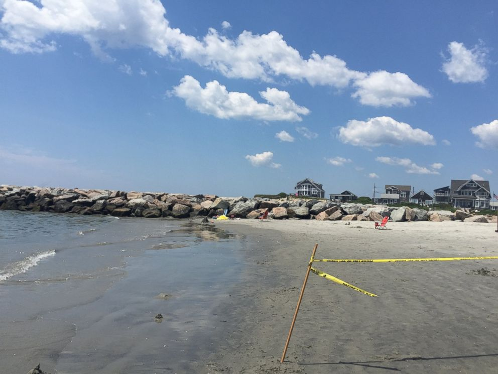 PHOTO: Beachgoer David Di Filippo took this photo shortly after the mysterious explosion on Salty Brine State Beach in Rhode Island on Saturday, July 11, 2015.