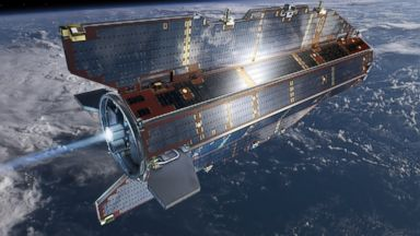 PHOTO: An artists rendering of the European Space Agency's GOCE satellite.