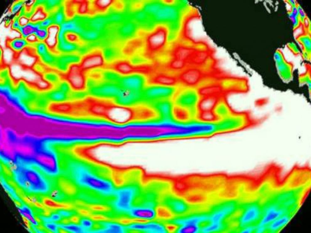 PHOTO: Warming Sea Surface Temperatures in the Pacific Ocean.