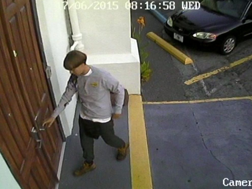 PHOTO: Charleston, South Carolina police released images showing a suspect in a deadly church shooting.