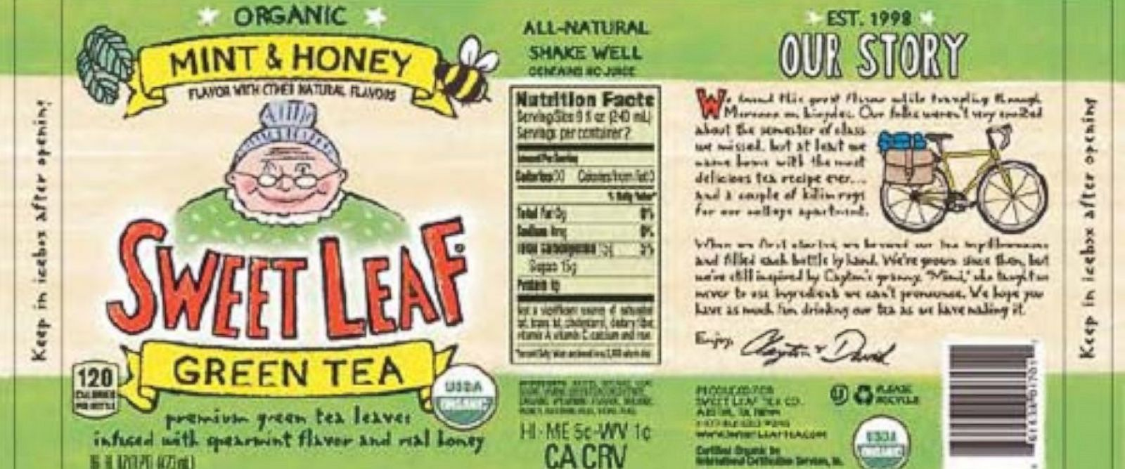 PHOTO: The Sweet Leaf Tea Company announced today that it is voluntarily recalling Sweet Leaf® Tea in 16 ounce glass bottles out of an abundance of caution because of the possible presence of glass fragments.