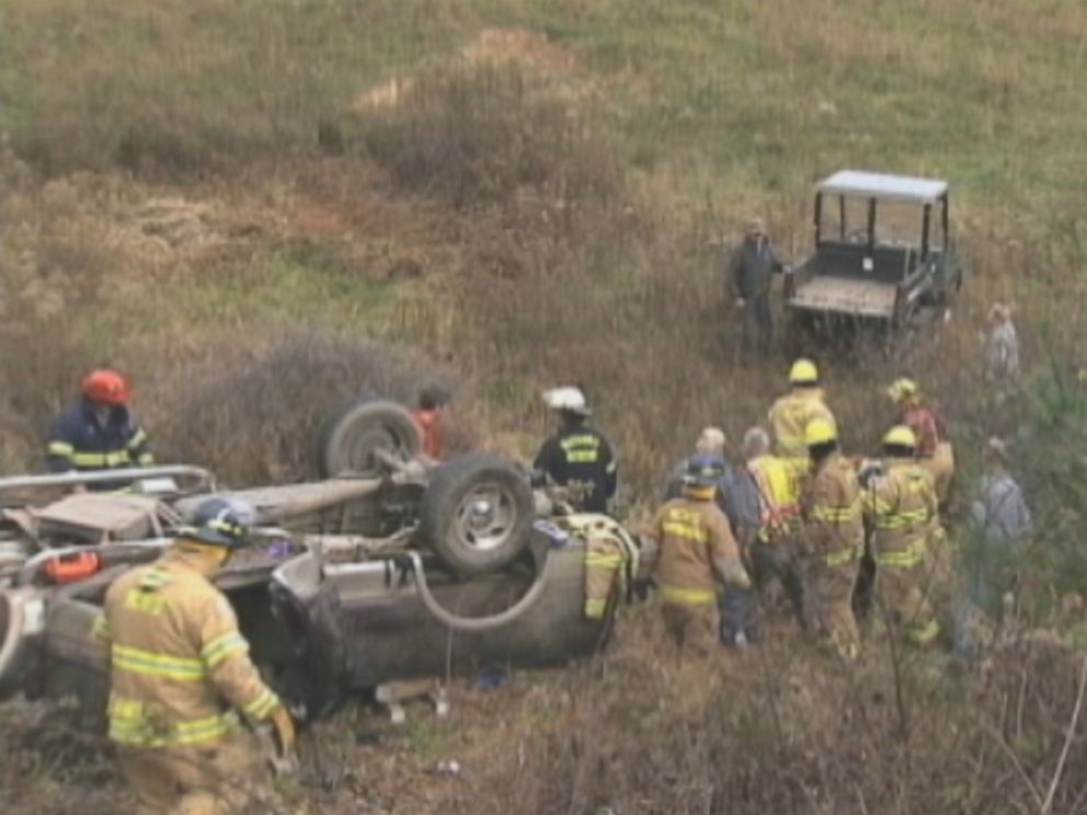 PHOTO: Joseph Woodrings vehicle fell at least 60 feet when he went off the road in Boone, N.C., Oct. 28, 2014, according to State Highway Patrol.