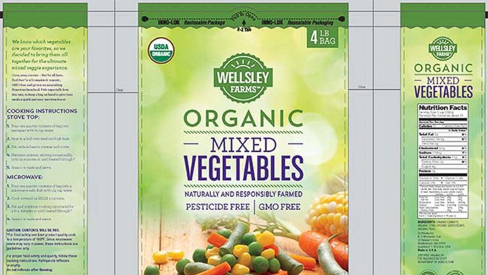 PHOTO: CRF frozen foods recalls frozen vegetables due to possible health risk.