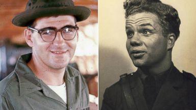 PHOTO: World War II veteran John Banvard and Vietnam Veteran, Gerard Nadeau