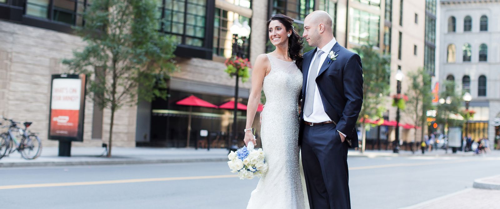 PHOTO: Boston Marathon bombing survivor James Costello and nurse Krista DAgostino were married Sat., Aug. 23, in Boston.