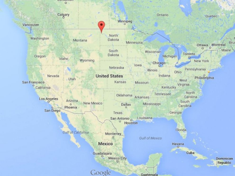 PHOTO: Williston, North Dakota, is shown on this map of the United States.