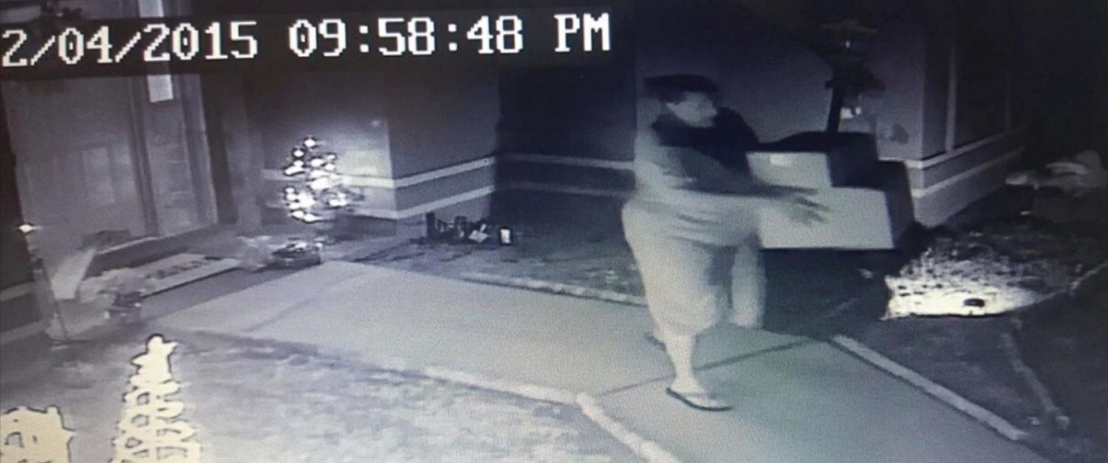 PHOTO:Dana Hager was caught on surveillance video, Dec. 4, 2015, allegedly taking packages from the porch of a neighbors home, according to the Polk County Sheriffs Office.