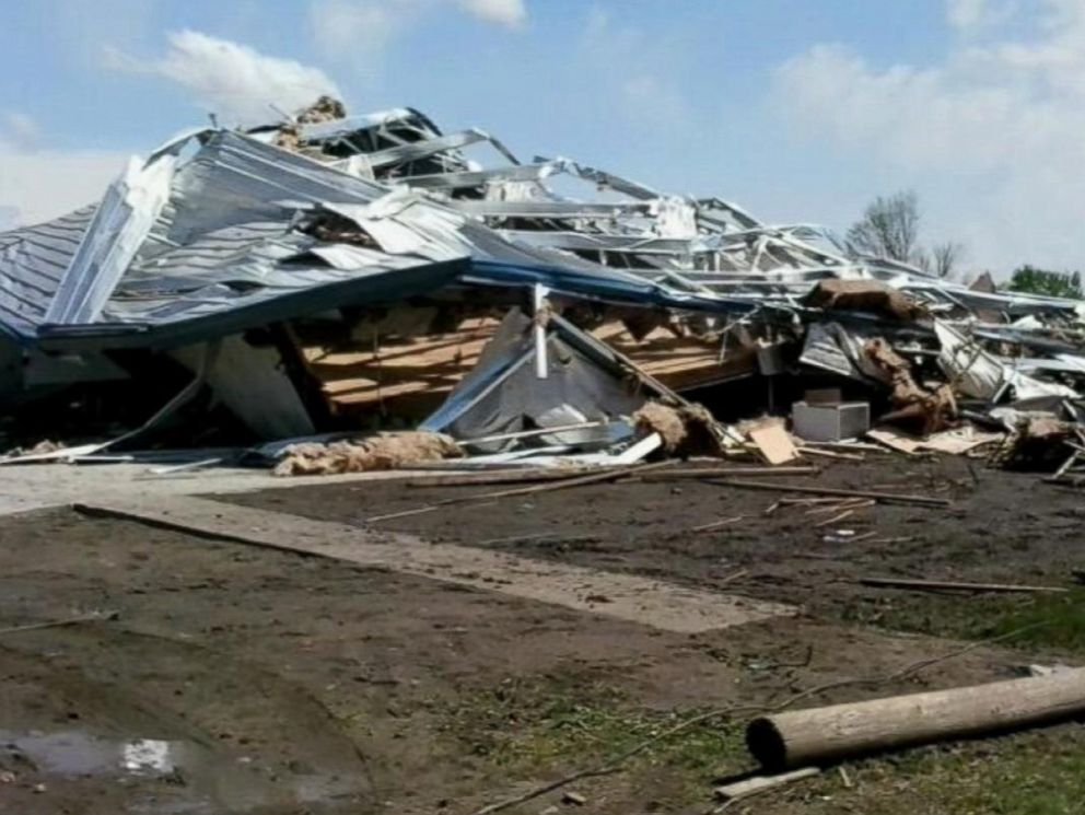 PHOTO: Homes were reported damaged in Van, Tx. after severe storms.