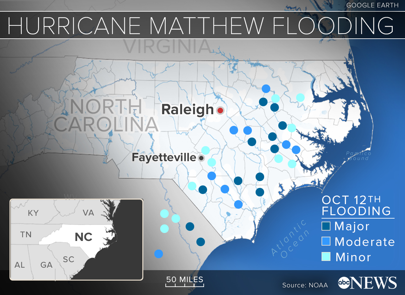 North Carolinians Urged To Stay Away From Water As Rising