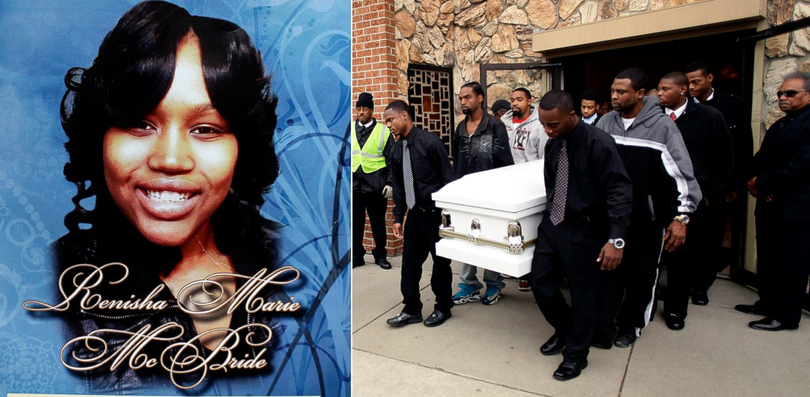 PHOTO: A mourner holds a funeral service program showing a picture of 19-year-old shooting victim Renisha McBride during her funeral service in Detroit, Nov. 8, 2013.