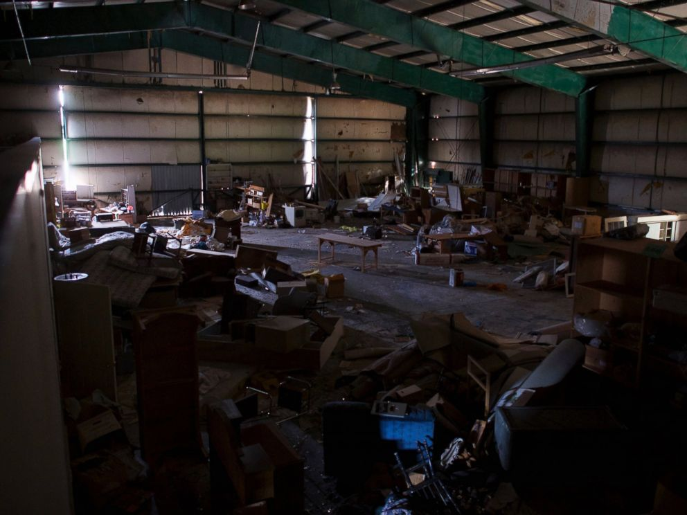 PHOTO: An interior view of the hangar within the abandoned Birchwood Resort, where Eric Frein was caught on Thursday, is seen in Tannersville, Pa., Oct. 31, 2014.