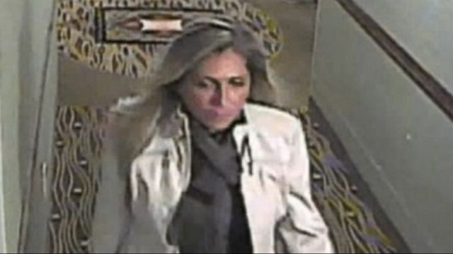 "VIDEO: Police are looking for a woman suspected of stealing replica ""Wizard of Oz"" ruby slippers from a NY hotel."
