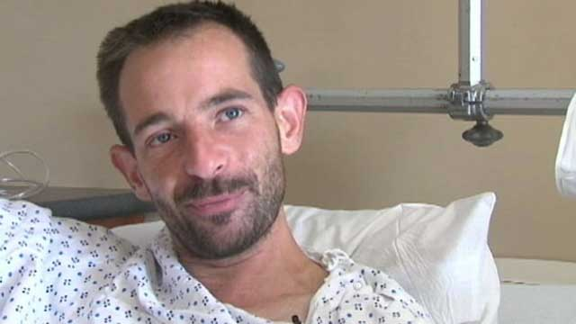 PHOTO: 33 year old hiker, Daniel Samuelsen said he fell into the tunnel, near the mouth of Parleys Canyon, and broke his leg during a hike, Aug. 29, 2012.