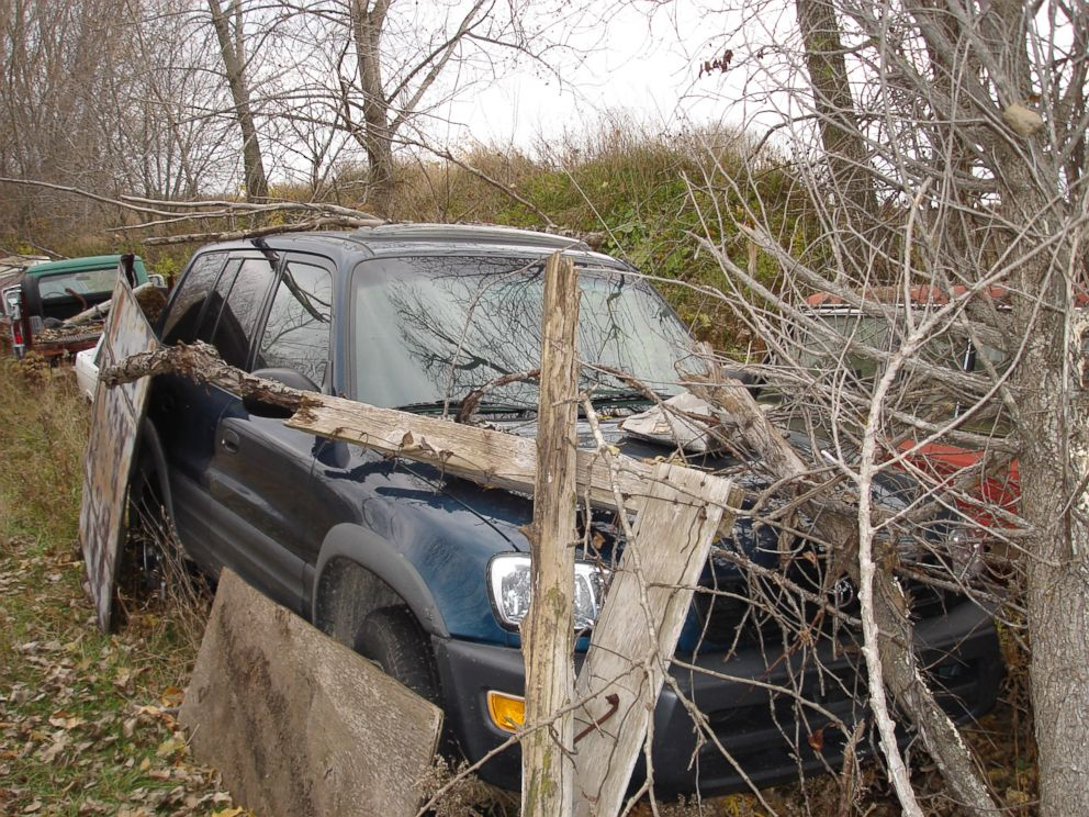 Evidence photo the state presented at Steven Averys murder trail showing Teresa Halbachs car on the Avery property.