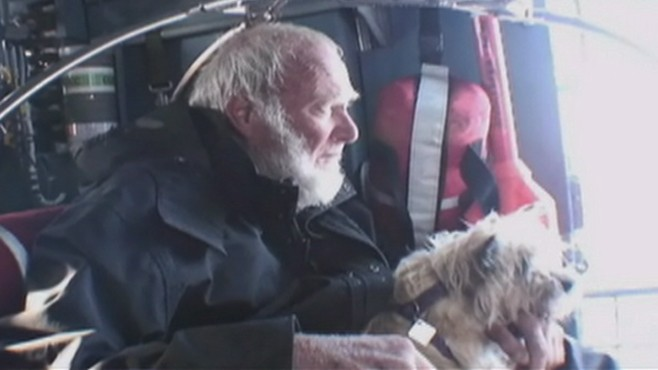 VIDEO: U.S. Coast Guard rescue 77-year-old man and his dog off the coast of Mexico.