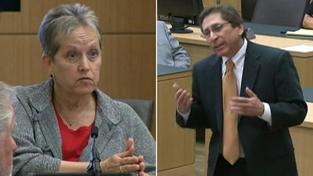 PHOTO: Domestic abuse expert Alyce LaViolette, left, and ...