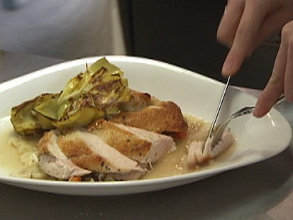 VIDEO: Chef Matt Weingarten prepares chicken with farro and artichokes.
