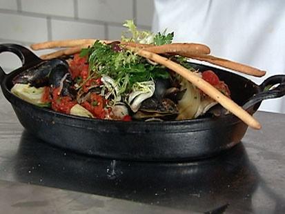 VIDEO: Almond chef Jason Weiner cooks this peasant fish dish.