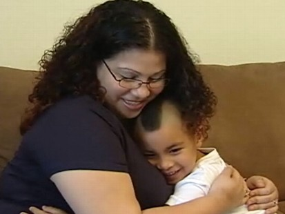 VIDEO: A Facebook posting about missing kids reunites Lorena Perez with her son.