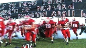 PHOTO Cheerleaders with religious messages at football games have sparked a First Amendment debate in Georgia.