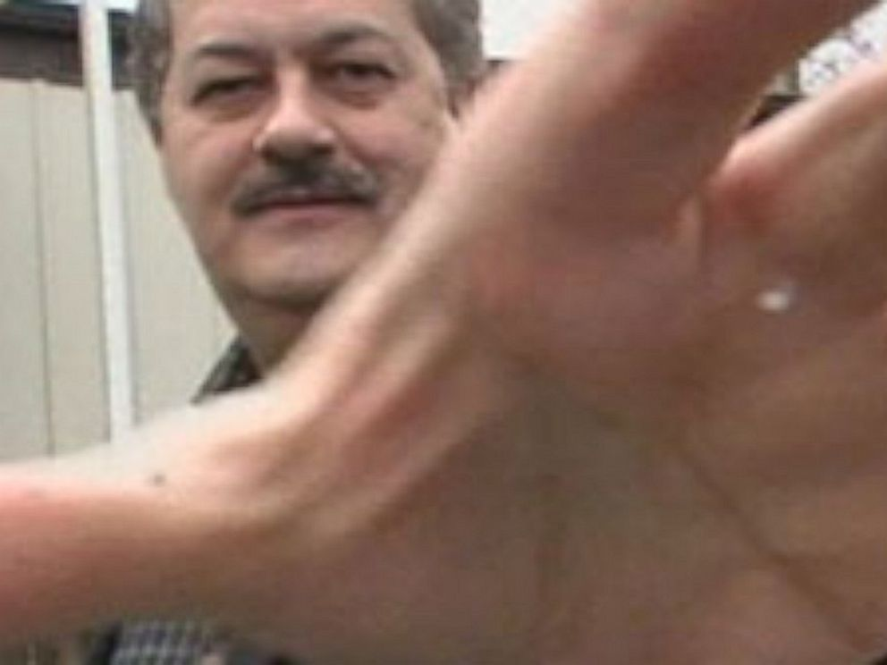 PHOTO: Former Massey Energy CEO Don Blankenship confronts ABC News camera in 2008.